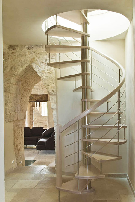 Herreros rada escaleras de hierro forja y acero inoxidable - Escaleras de caracol barcelona ...